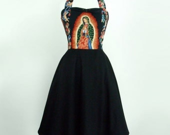 Guadalupe Virgin Mary and Angels Dress