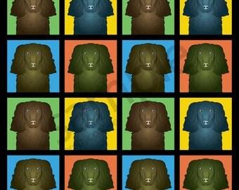 American Water Spaniel Cartoon Pop-Art T-Shirt Tee - Men's, Women's Ladies, Short, Long Sleeve, Youth Kids