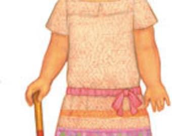 oliver + s CROQUET DRESS ~ Multi-size PATTERN - Girl's  Dress Pattern - Sizes  5, 6, 7, 8, 10 + 12