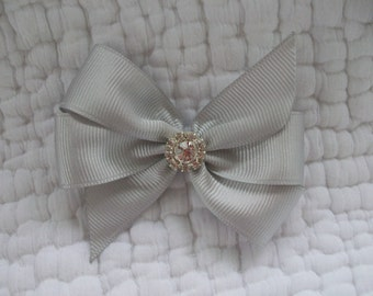 Dog Hair Bow  Custom Made Ribbon and Roses