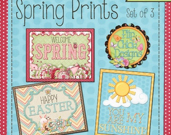 Printable Spring Art--Set of 3