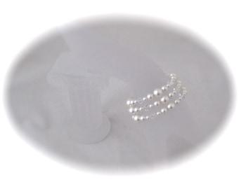 Wedding bracelet pearl bridal jewelry bracelet