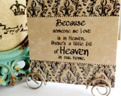 Because someone we LOVE is in HEAVEN there is a little bit of heaven in our HOME Travertine tile with Stand.