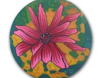 Echinacea Silly Milly Polymer Clay Cane - Large