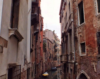 Fine Art photography, Venice, Italy, canal, serene, vintage, grunge, 8x12, 8x10 also available