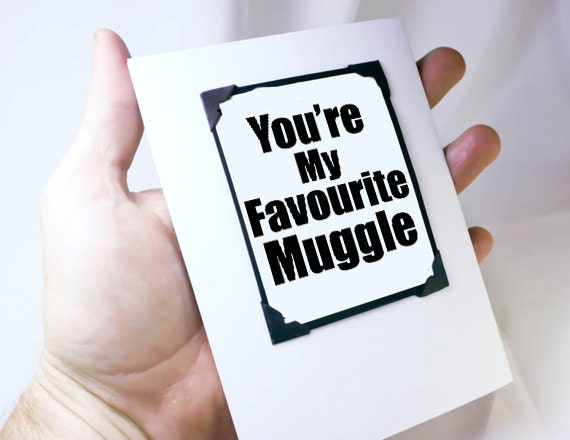 Harry Potter Christmas Card. Harry Potter Card and Magnet. Funny Muggle Card.