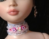 Hello Kitty Pink and Lace Choker for Ellowyne Wilde and Delilah Noir