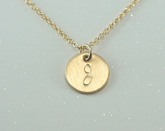 Gold Cursive Initial Necklace-Free US Shipping