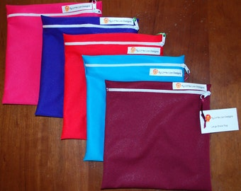 Large Reusable PUL Snack Bag