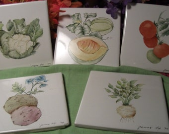 HANDPAINTED CERAMIC TILE