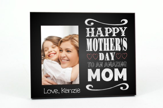Mothers Day Personalized Picture Frame for 4x6 Photo Custom Frame Gift UPMD-02