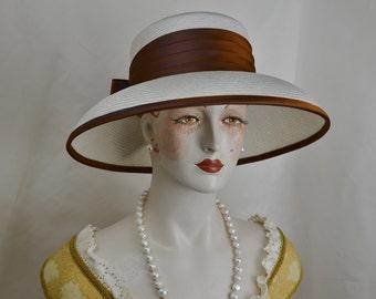 Couture Ladies Silk Straw Hat