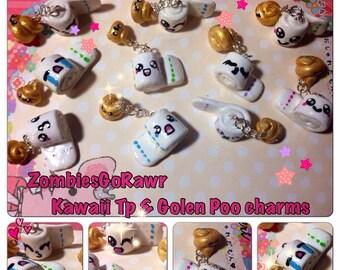 Kawaii TP and Golden Poo Charms