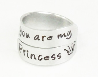 Daughter gift - You are my princess crown ring - Ring for daughter - Girlfriend ring - Gift for wife