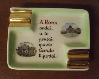 Vintage Ceramic Ashtray From Italy