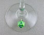Mini Rainbow Dice Wine Glass Charms, D&D Wine Charms, D20 Wine Charm, Dice Booze, D20 Wine Glass Charms, Pathfinder, DnD Charms,