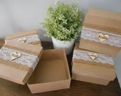 Rustic Personalized Bridesmaid Gift Box Set of 2 Jewelry Keepsake Gift Box Chalkboard or Wood Tag Bride Ring Box You Personalize SET of 2