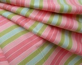 Quilting Fabric Art Gallery Bespoken Collection Stitchery Citrus Lime Pink Stripes BE-7105