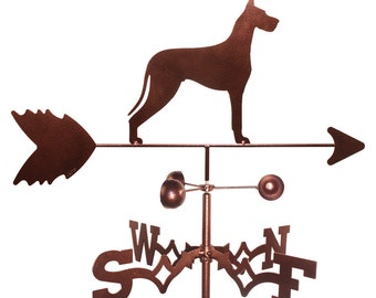 Hand Made Great Dane Dog Weathervane NEW