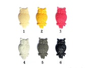 2 pieces Mini Hoot Owl Cabochons 25mm 6 Color Choices Earrings Rings