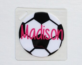 Soccer Bag Tag Soccer Team Party Soccer Gift Soccer Coach Soccer Party Favor Soccer Ball Tag Soccer Ball Bag Tag Soccer Party Soccer Gifts