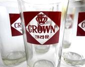 Retro Red Crown Asian 8oz. Glassware