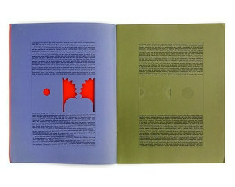"""The Push Pin Graphic, Issue 41 (1963). """"Emotional Involvement"""" by Seymour Chwast & Milton Glaser"""