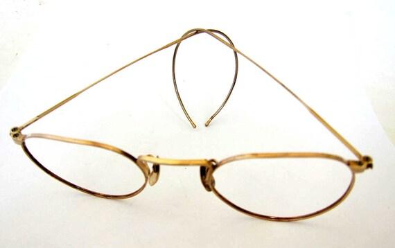 Solid Gold Eyeglass Frames : Estate 10K Solid Gold EyeGlass Framemarked by utamaro on Etsy