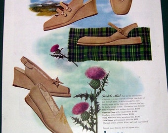 1946 Joyce Scotch Mist Beige Shoe Ad, Department Store Shoes, Walking Shoes, Advertising Shoes, Art Illustration, Haute Couture, Fashion