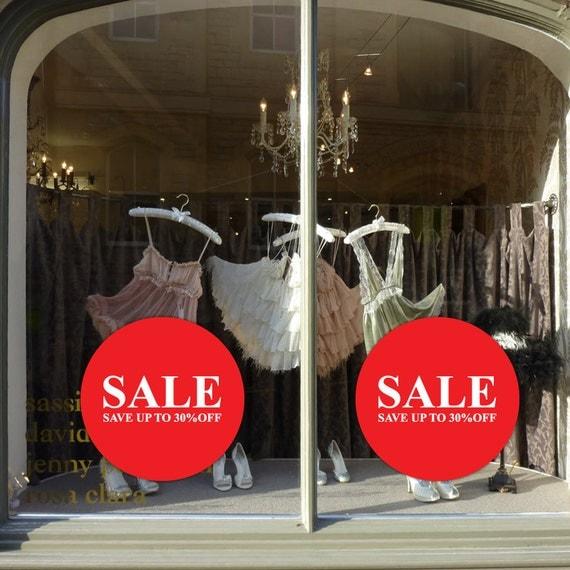 Circle Sale Sign Up Tp 30 40 50 Off Sign For Shop