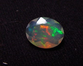 9x11 mm - Oval - AAAAAAA - High Quality Faceted - Ethiopian Opal Full Amazing Gorgeous Full Multy Colour flashy Fire