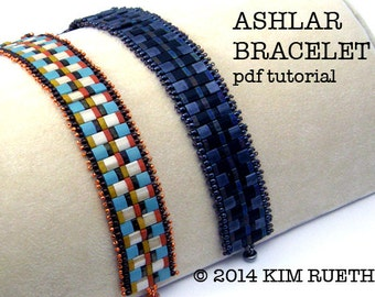 Beading Tutorial for Ashlar Bracelet with Tilas, 1/2 Tila, and 2mm pearls