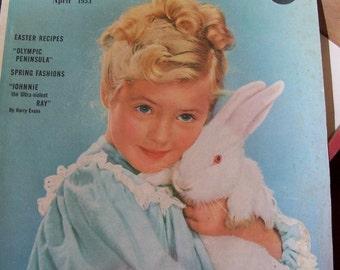 Family Circle Vintage Magazine 1953 Adverising, Art Illustrations, Fiction, Products