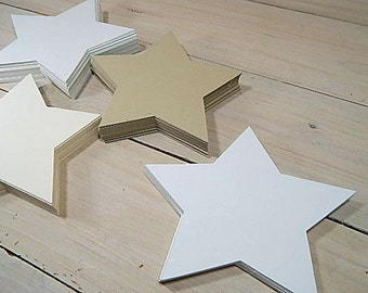Extra Large Star Die Cuts (10) Eco-friendly  - Thick 400g Cardstock