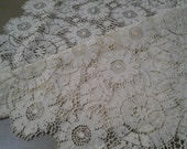 Vintage lace table runner
