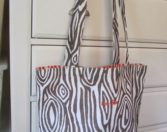 Willow - Italian Brown - Reversible Tote (Daily Carryall) - Only Totes by JD Designs