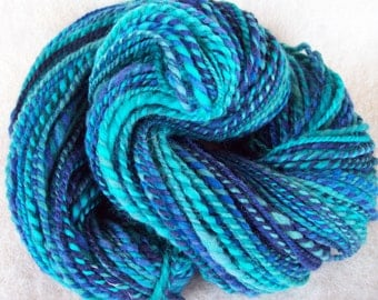 Handspun Yarn//Fractal Spun//BFL Wool//sport weight//185 yds
