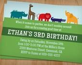 ANIMAL BIRTHDAY PARTY Printable Invitation