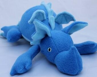 Blue Plush Baby Dragon