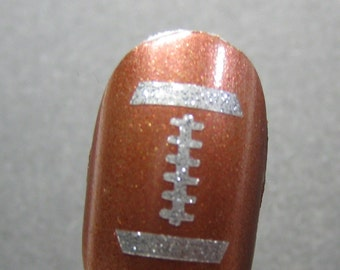Football Toe nail / finger nail art / tattoos / decals / stickers / pedicure