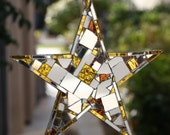"Honey you are my shining star, 8"" patchwork mirror suncatcher - shipping included"