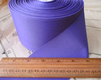 "roll of 3"" purple grosgrain ribbon - polyester, made in USA"