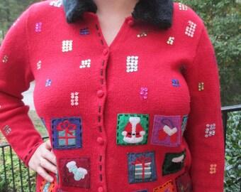Tacky Christmas Sweater, Tacky Sweater, Christmas Sweater,Tacky Holiday Sweater, Holiday Sweater, Red sweater,