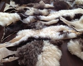 Scraps of soft Wool Leather