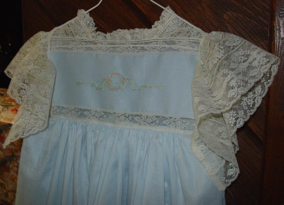 Heirloom dress blue/ecru size 6 Pageant, portrait, beach wedding,  wedding, beach portrait, graduation