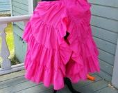 Long your color choice 25 Yard Hem Ruffled Split Mori Cotton Skirt Petticoat Steampunk Wedding Bridal Ruffle Mourning