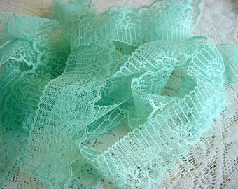 Vintage Lace Trim - Pretty Aqua Turquoise - 5 yards - more available