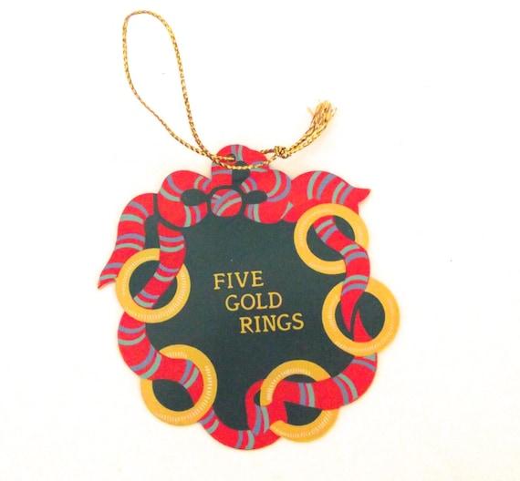 Items similar to Vintage Avon Metal Five Gold Rings