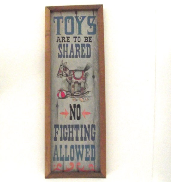 Vintage Americana Decorative Wall Plaques 1972 Sign Toys