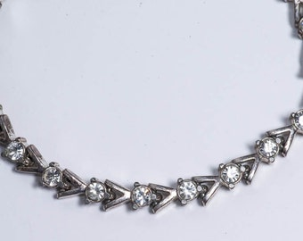 SALE Silver and Rhinestone Bracelet Vintage Avon Rhinestone Bracelet